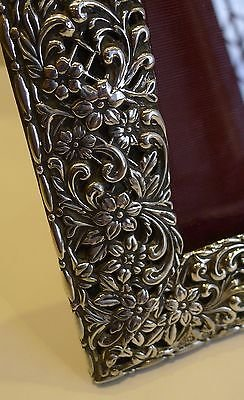 Antique Stunning Large Antique English Sterling Silver Photograph Frame