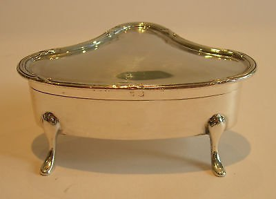Antique Antique English Sterling Silver Jewellery or Ring Box