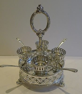 Antique Antique English Silver Plated Egg Cruet c.1880
