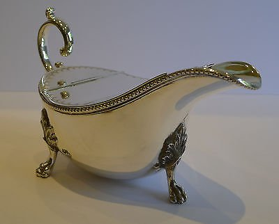 Antique Antique English Silver Plated Spoon Warmer c,1880 - Sauce Boat Shaped