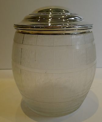 Unusual English Victorian Biscuit Barrel or Box c.1890