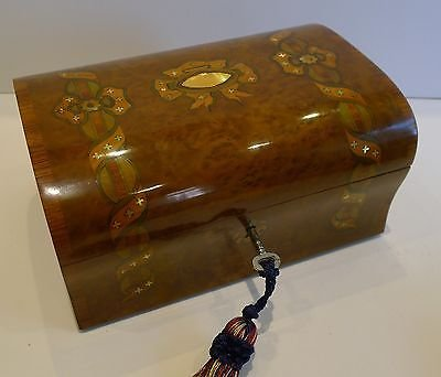 Prettiest Antique French Marquetry Inlaid Box c.1860