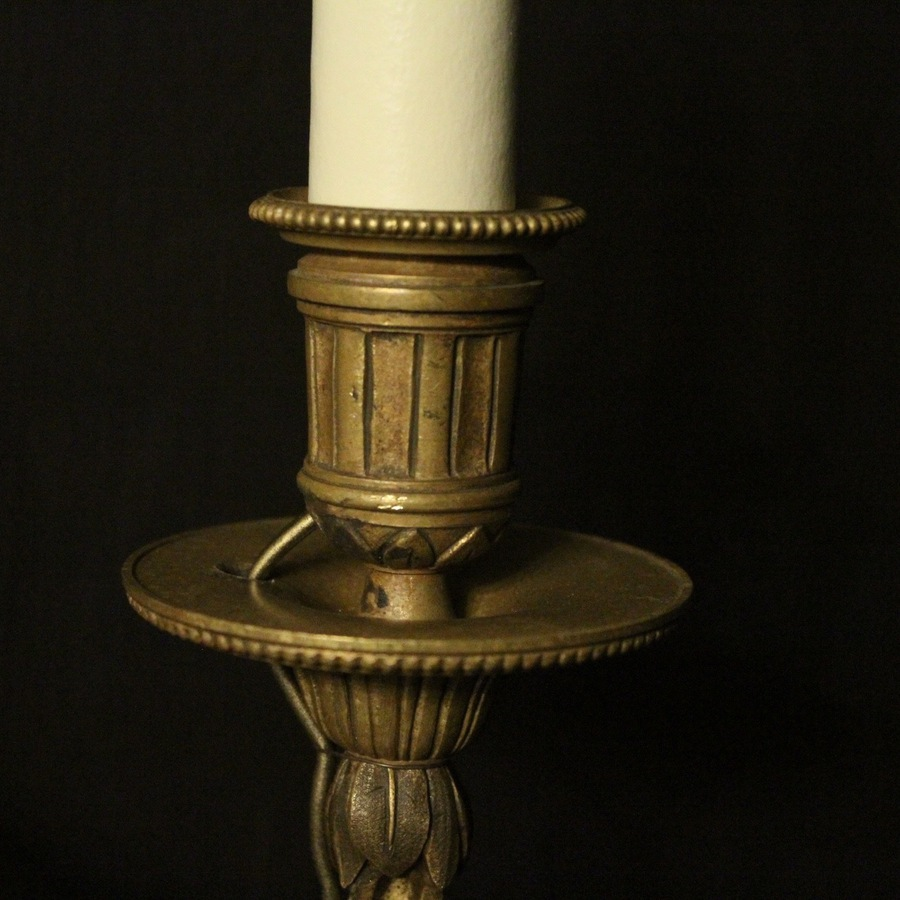 Antique French Pair Of Bronze Antique Wall Sconces