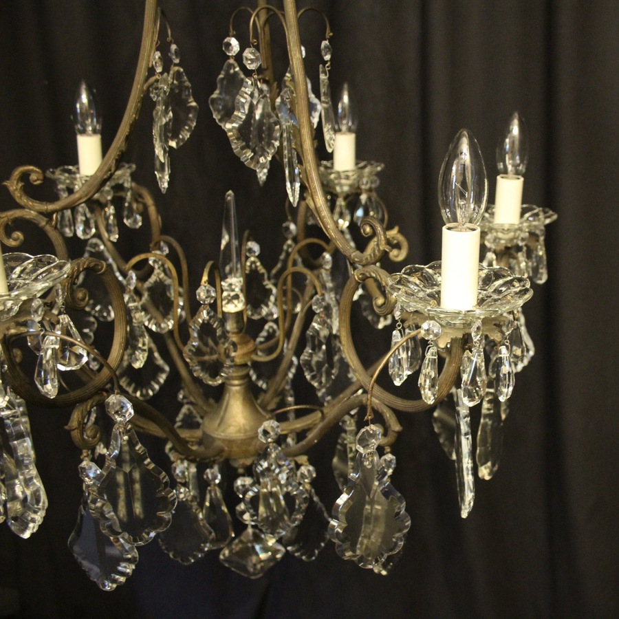 Antique French Gilded 7 Light Antique Chandelier