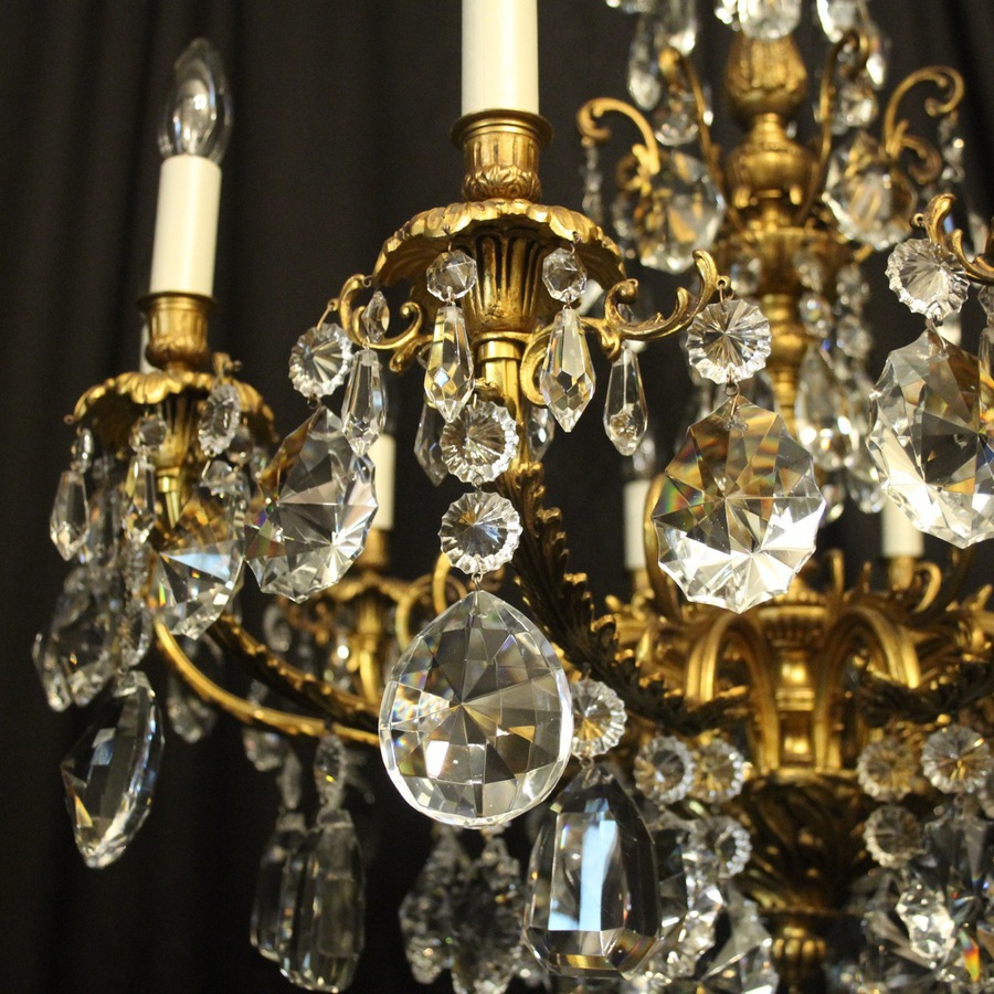 Antique French Gilded Bronze Antique Chandelier