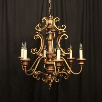 A large mistletoe chandelier, France, c. 1900 Jugendstil and