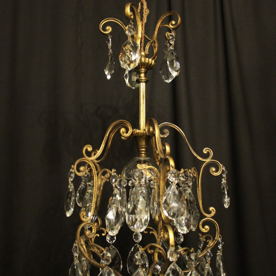 Antique French Birdcage Single Light Antique Chandelier