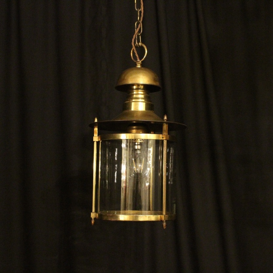 French Gilded Convex Hall Lantern