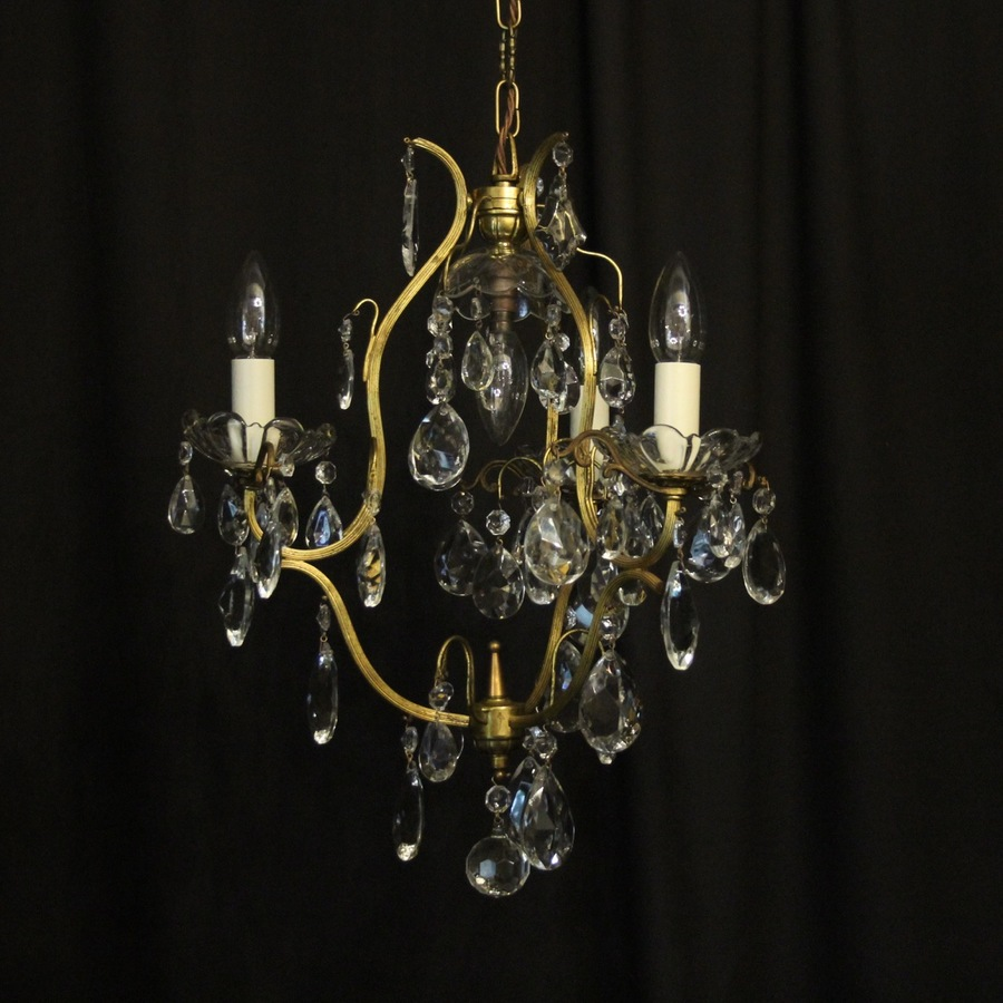 French Birdcage 4 Light Antique Chandelier