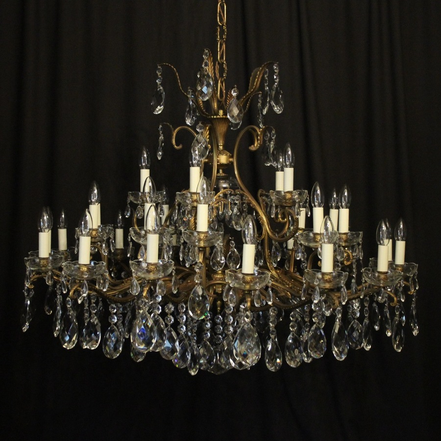 Italian Gilded 36 Light Antique Chandelier