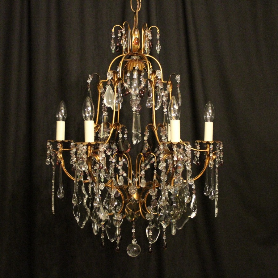 Italian Florentine 7 Light Antique Chandelier