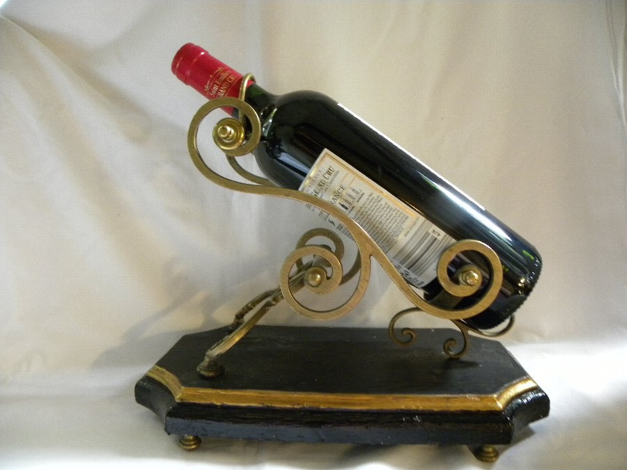 Antique Antique Art Nouveau French brass mounted wine decanting cradle - Item 2067