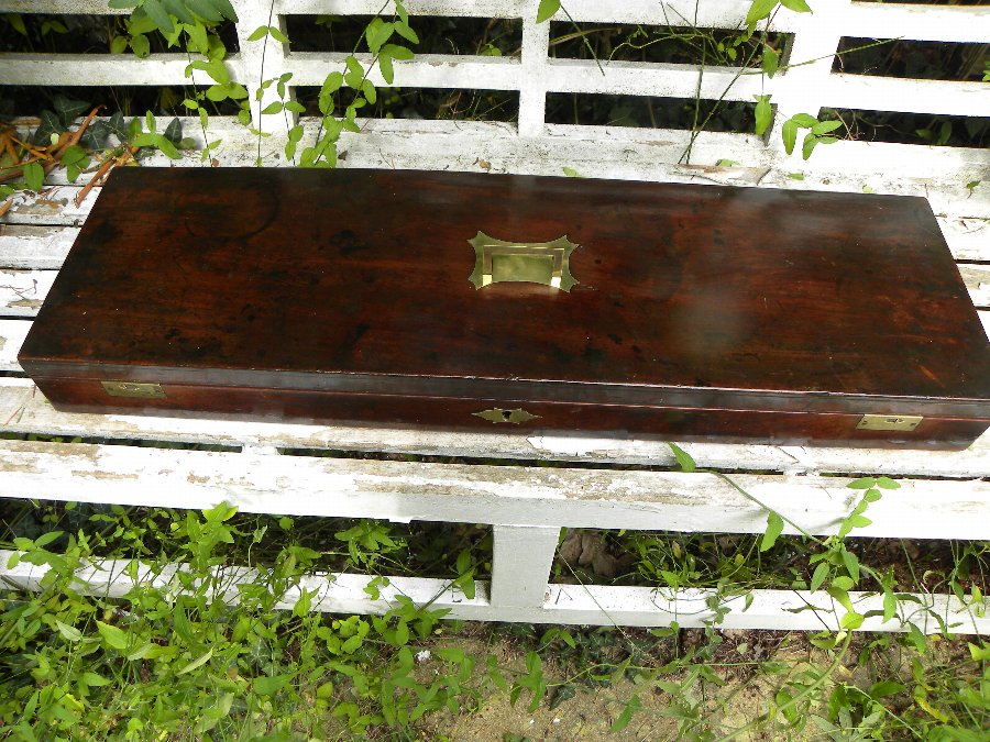 A fine quality antique mahogany gun case late 18th century - Item 3213