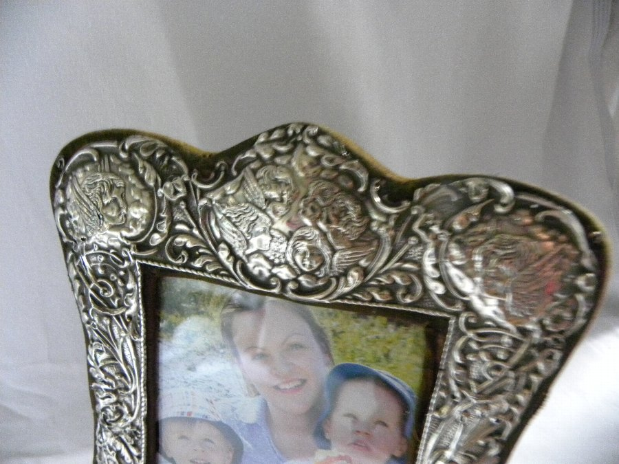 Antique An Edwardian silver rococco style picture frame - Item 3214