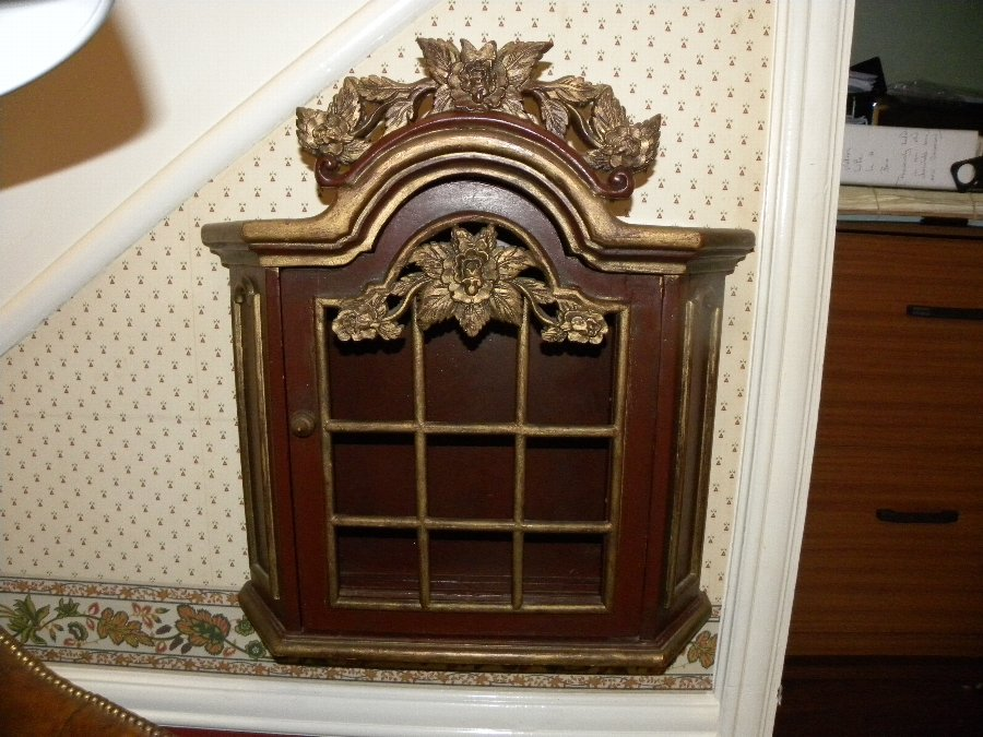 Small two door French wall cabinet - Item 3218