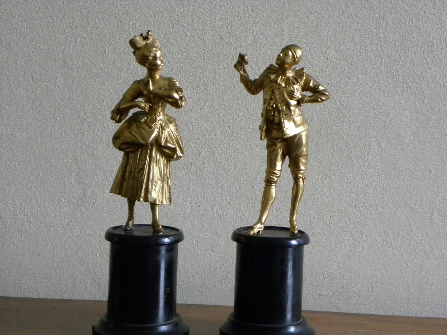 Pair of French 19thC ormolu figures - Item 3224