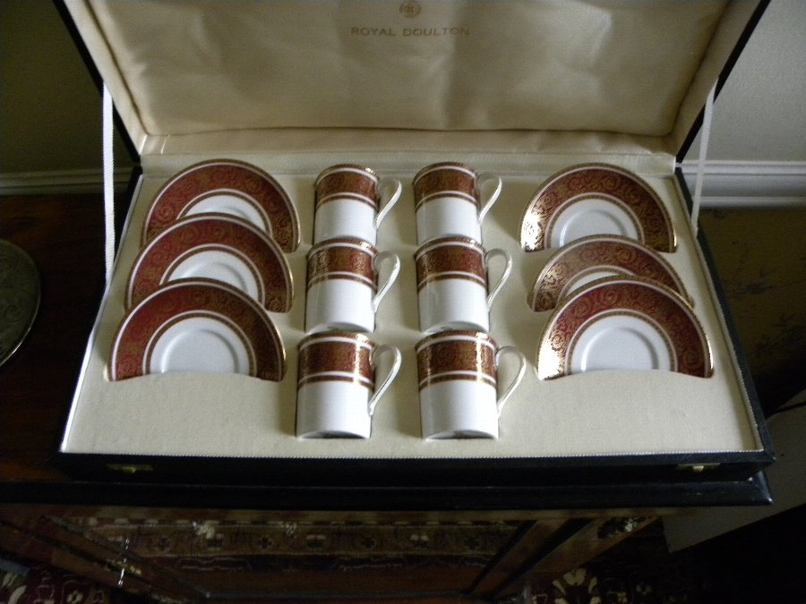 A fine bone china coffee set by Royal Doulton - Item, 3317