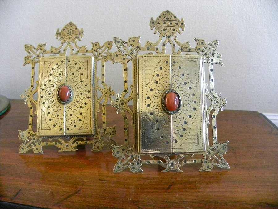 A gorgeous pair of Gothic revival photo frames
