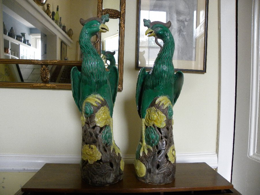 a pair of early 20th century Chinese Mythical birds - Item 3353