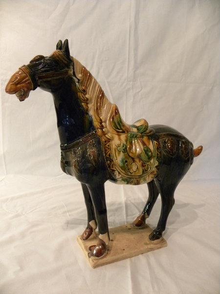 A Chinese glazed pottery horse