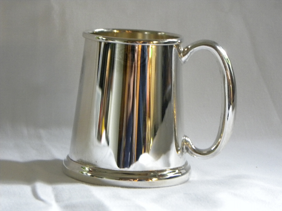 Electro plated Straight sided child's tankard - Item 787