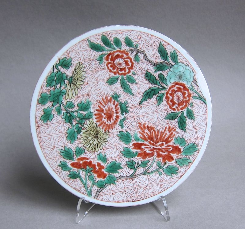 Attractive Chinese Transitional polychrome plaque, Shunzhi