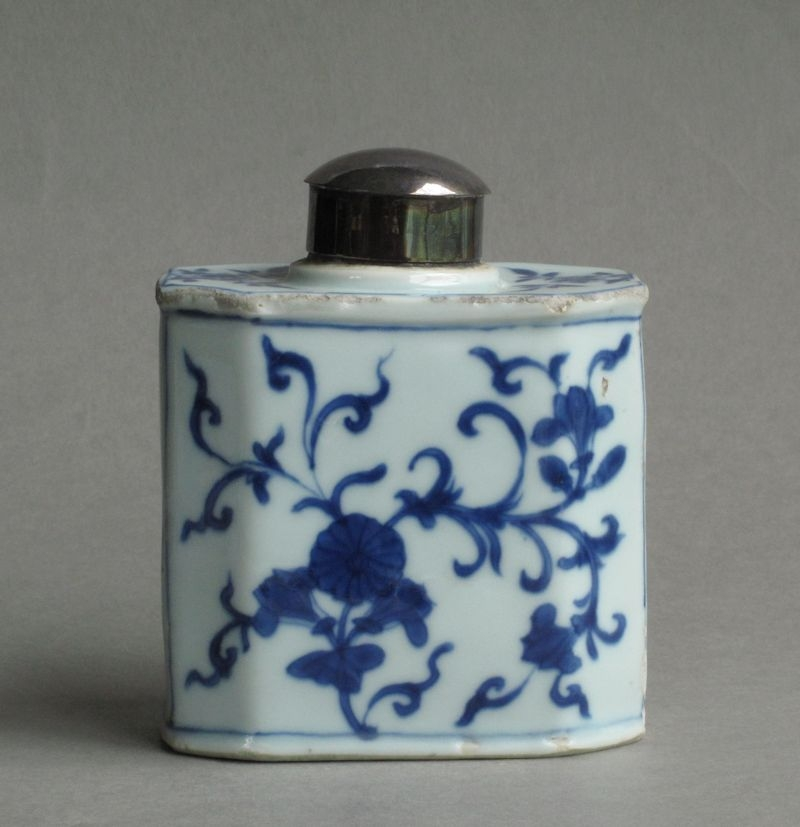 Chinese export tea canister, Yongzheng