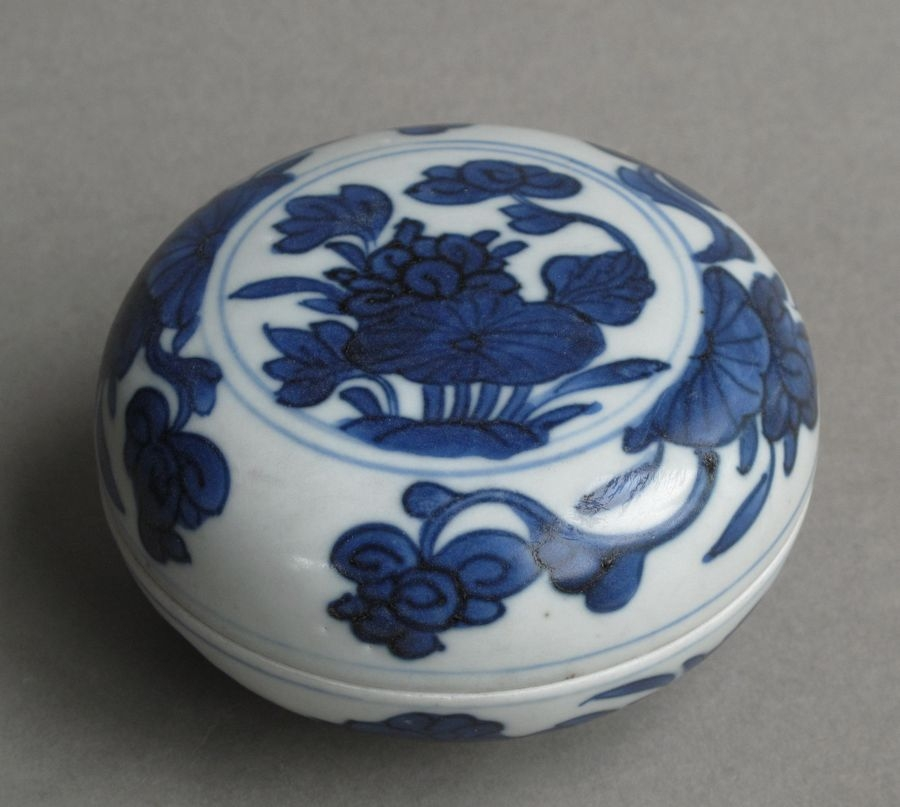 A Chinese shipwreck box and cover, Kangxi