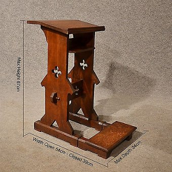 Antique Antique Oak Lectern Bible Prayer Stand Victorian English Ecclesiastical c1880
