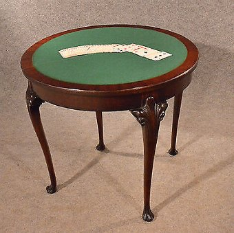Antique Antique Table Card Games Tea Sofa Hall Folding Demi Lune English Victorian c1890