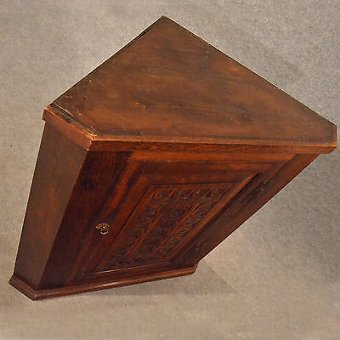 Antique Antique Oak Corner Cupboard Victorian Cabinet Free Standing or Wall Hang c1880