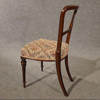 Antique Antique Side Chair Study Desk Hall Dining Seat Victorian English c1900