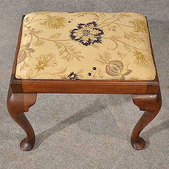 Antique Antique Dressing Music Fireside Stool Footstool Mahogany English Victorian c1900