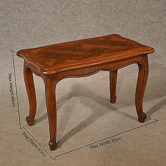 Antique Antique Oak Coffee Table Serving Tea Art Deco Vintage Occasional Table c1930