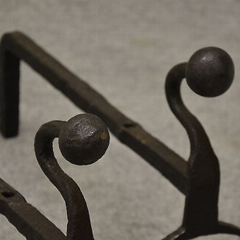 Antique Antique Fire Dogs Andirons Chimney Hearth Fireplace Iron Grate Rests c1900