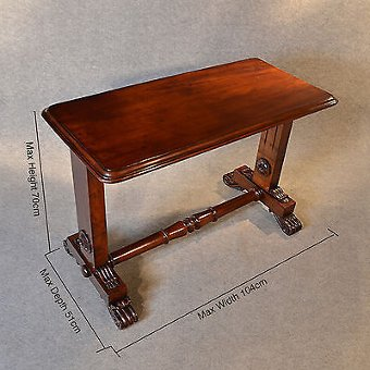 Antique Antique Table Desk Stretcher Sofa Side Hall William IV English Mahogany c1835