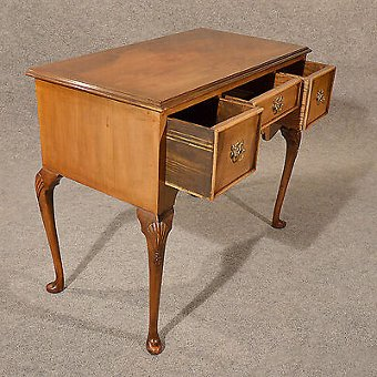 Antique Antique Desk Study Office Library Table Quality Edwardian English Walnut c1910