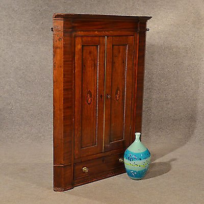 Antique Antique Oak Corner Cupboard Quality Large English Georgian Display Cabinet c1780