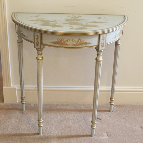 Chinese Style Paint & Gilt Hall Table (a11589)