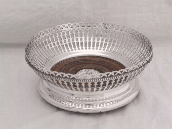 Antique Antique Victorian Silver Plated Decanter Coaster c1861