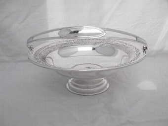 Antique Antique Silver Plated Fruit Dish by Mappin & Webb c1900