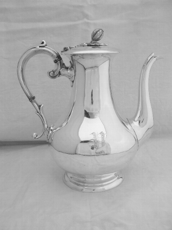 Victorian Silver Plated Coffee Pot c1870
