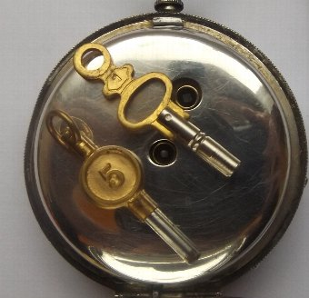 Antique Antique Silver Cased Open Face Pocket Watch.