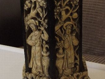 Antique Beautiful Chinese Soapstone Carving of an Incense Burner in The Form of a Pagoda