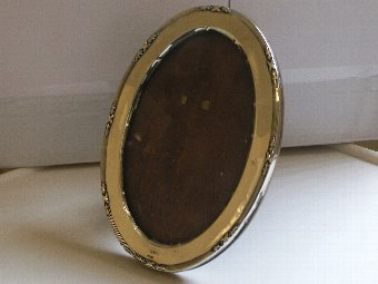 Antique Antique Silver Oval Photo Frame Chester 1916
