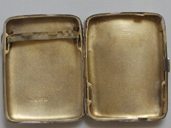 Antique Antique Hallmarked Silver Cigarette/Card Case