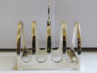 Antique Lovely Hallmarked Silver 5 Bar Toast Rack