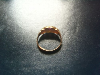 Antique Beautiful Vintage 18ct Gold Ruby & Diamond Ring. B'ham 1918.