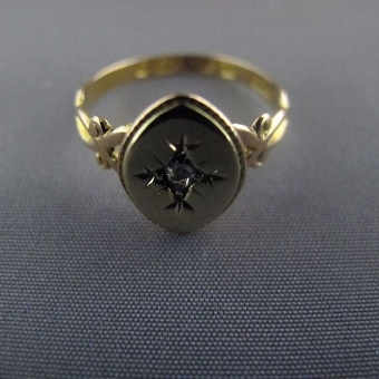 Antique Superb Victorian 15 ct Yellow Gold Antique Diamond Ring