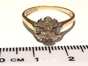 Antique STUNNING ART DECO 18CT GOLD DIAMOND RING